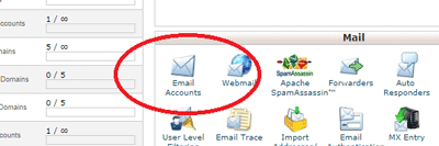 Email Accounts on cPanel