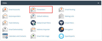 Email forwarder on cPanel
